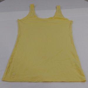 Lilly Pulitzer 100% Pima Cotton Yellow Tank Top
